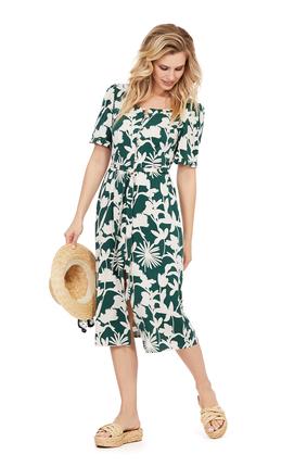 женское повседневные платье pirs, зеленое