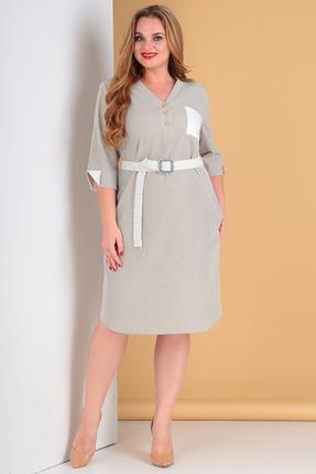 Платье Moda-Versal 2183 серо-бежевые тона