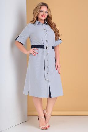 Платье Moda-Versal 2188 сине-белый