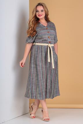 женское повседневные платье moda-versal, серое