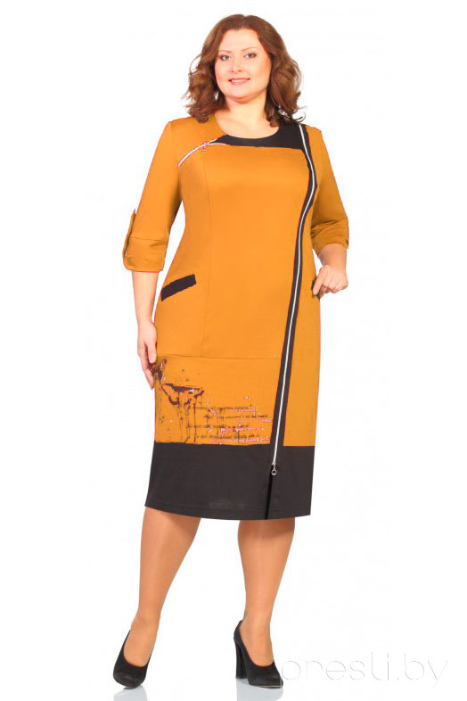 Платье Новелла Шарм 2162 горчица