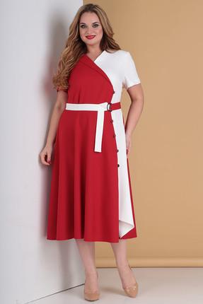 женское повседневные платье moda-versal, красное