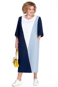 Платье Pretty 1073 синие тона