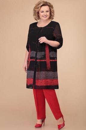 Комплект брючный Svetlana Style 1394 черный с красным