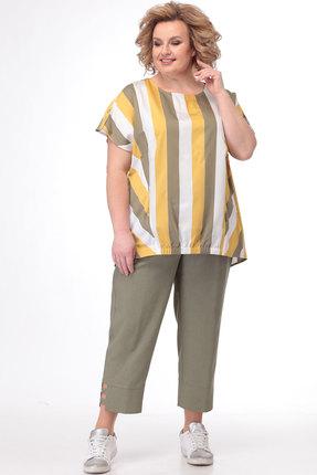 женский брючный костюм bonna image, хаки