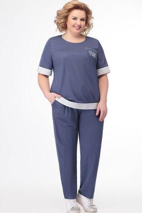 женский брючный костюм bonna image, синий
