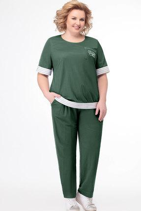 женский брючный костюм bonna image, зеленый