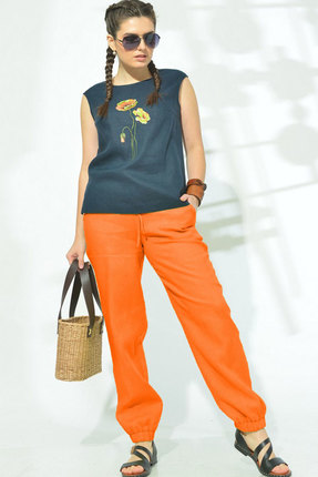 женский брючный костюм mali, оранжевый