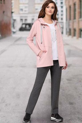 женский брючный костюм таиер, розовый