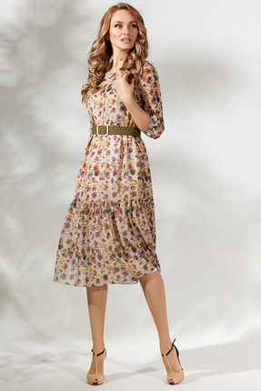Платье Магия Моды 1713 бежевые тона