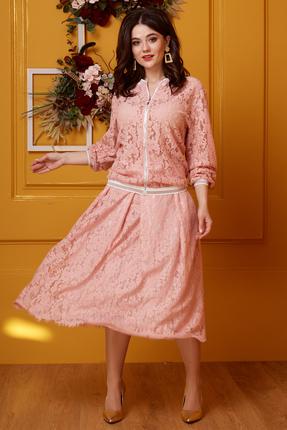 Комплект юбочный Anastasia 413 розовые тона