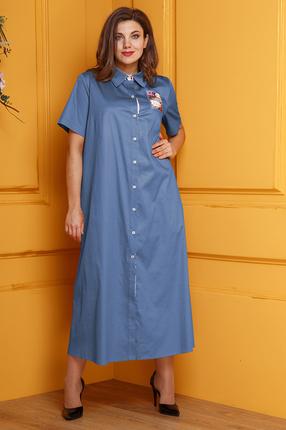 женское повседневные платье anastasia, голубое