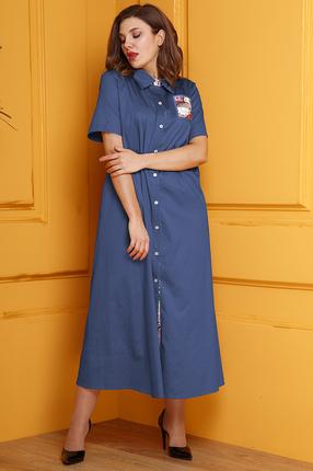 женское повседневные платье anastasia, синее