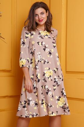 женское повседневные платье anastasia, розовое