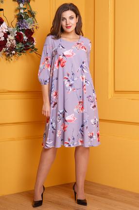 женское повседневные платье anastasia, фиолетовое