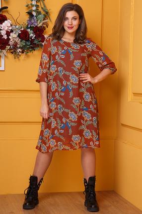 женское повседневные платье anastasia, коричневое