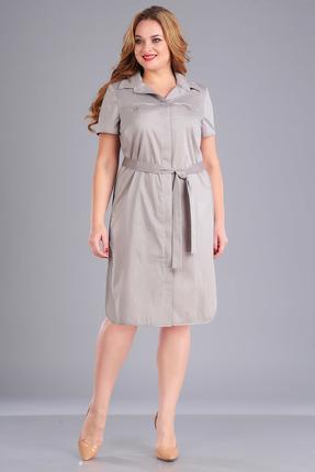 Платье FoxyFox 1717 бежевые тона