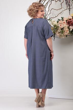 Фото 4 - Платье Michel Chic 990 темно-синий темно-синего цвета
