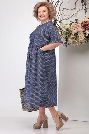 Фото 3 - Платье Michel Chic 990 темно-синий темно-синего цвета