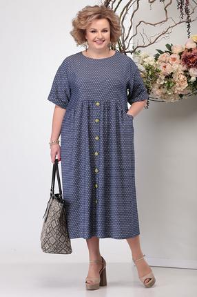 Фото 2 - Платье Michel Chic 990 темно-синий темно-синего цвета
