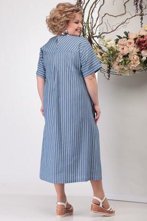 Фото 4 - Платье Michel Chic 990 светло-синий светло-синего цвета