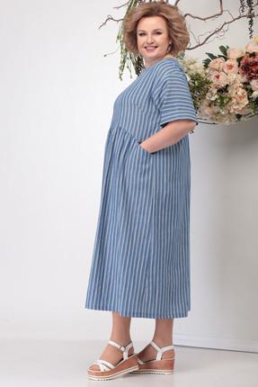 Фото 3 - Платье Michel Chic 990 светло-синий светло-синего цвета