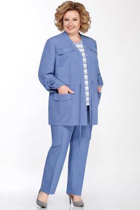Комплект брючный Emilia А-545 голубой