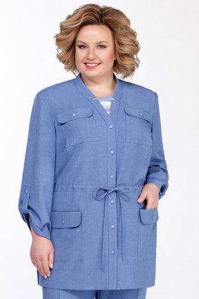 Фото 2 - Комплект брючный Emilia А-545 голубой голубого цвета