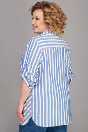 Фото 2 - Рубашку Emilia 416/1 белый с голубым цвет белый с голубым