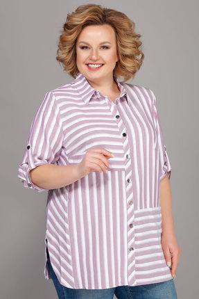 Купить Рубашку Emilia 416/2 белый с розовым цвет белый с розовым
