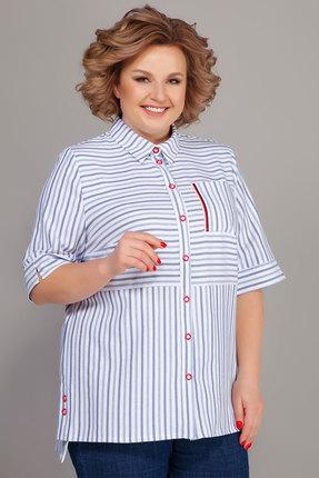Рубашка Emilia 484/1 белый с голубым
