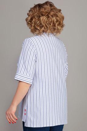 Фото 2 - Рубашку Emilia 484/1 белый с голубым цвет белый с голубым