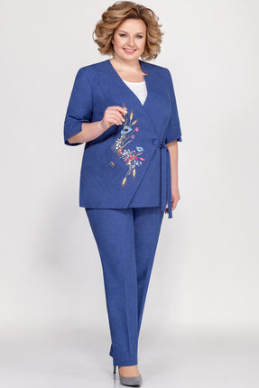 женский брючный костюм lakona, синий