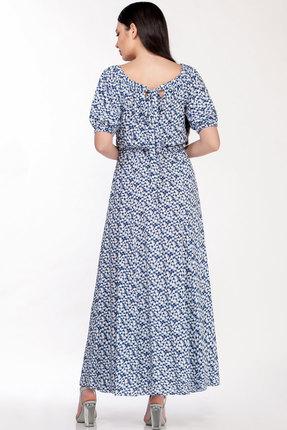 Фото 3 - Платье LaKona 1307 сине-белые цветы цвет сине-белые цветы