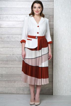 Фото 2 - Платье Белтрикотаж 4282 белый с цветным цвет белый с цветным