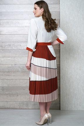 Фото 3 - Платье Белтрикотаж 4282 белый с цветным цвет белый с цветным