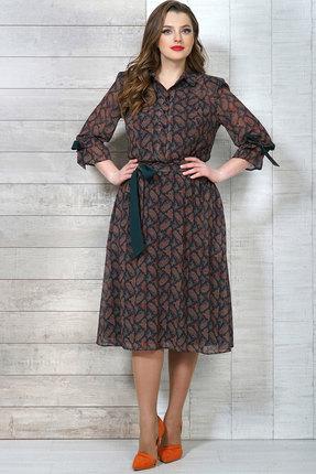 Фото - Платье Белтрикотаж 4272 изумрудный с коричневым цвет изумрудный с коричневым