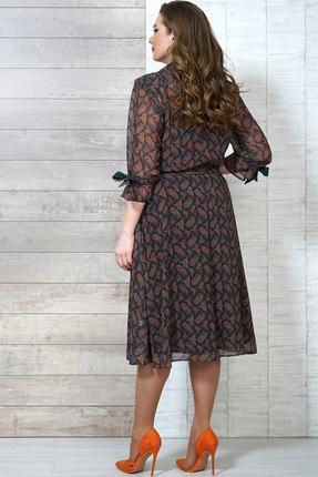 Фото 3 - Платье Белтрикотаж 4272 изумрудный с коричневым цвет изумрудный с коричневым