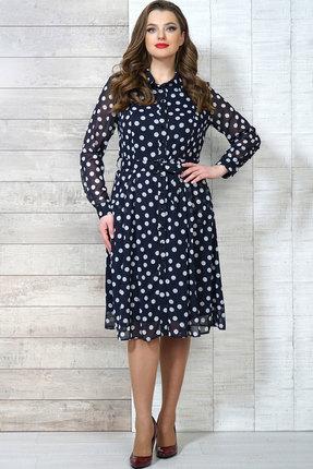 Фото 2 - Платье Белтрикотаж 6504 синий синего цвета