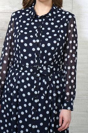 Фото 3 - Платье Белтрикотаж 6504 синий синего цвета
