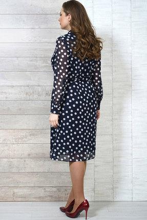 Фото 4 - Платье Белтрикотаж 6504 синий синего цвета