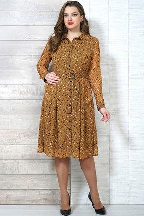 Фото - Платье Белтрикотаж 6504 горчичный горчичного цвета