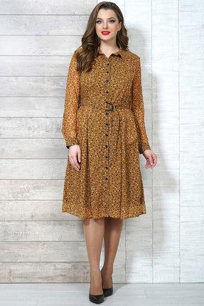 Фото 2 - Платье Белтрикотаж 6504 горчичный горчичного цвета