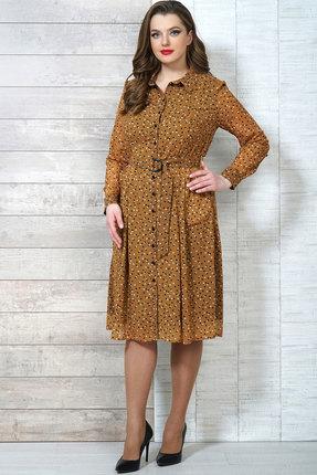 Фото 3 - Платье Белтрикотаж 6504 горчичный горчичного цвета