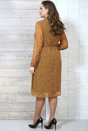 Фото 4 - Платье Белтрикотаж 6504 горчичный горчичного цвета