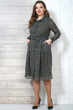 Фото 2 - Платье Белтрикотаж 6504 зеленые тона цвет зеленые тона