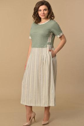 женское повседневные платье lady style classic, хаки