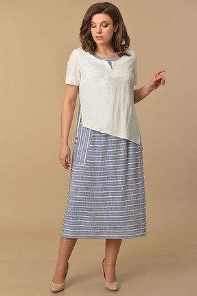 женское повседневные платье lady style classic, белое