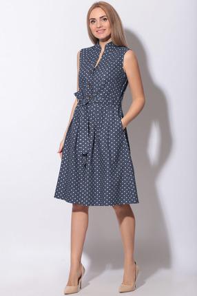 женское платье в горошек lenata, синее