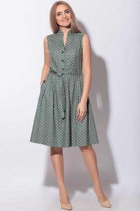 женское платье в горошек lenata, зеленое